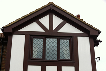 Mock Tudor wood grain